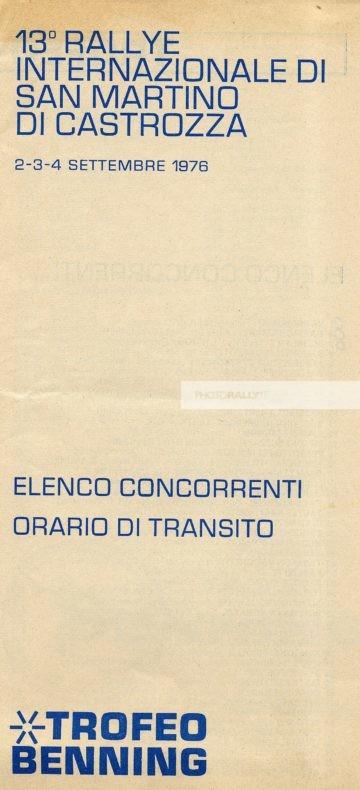 San Martino di Castrozza 1976 - Elenco degli iscritti