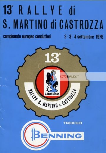 San Martino di Castrozza 1976 - Locandina Trofeo Benning
