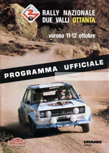 2 Valli 1980 - Programma ufficiale