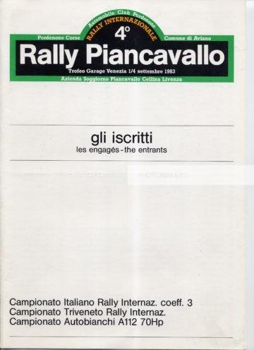 Piancavallo 1983 - Elenco iscirtti