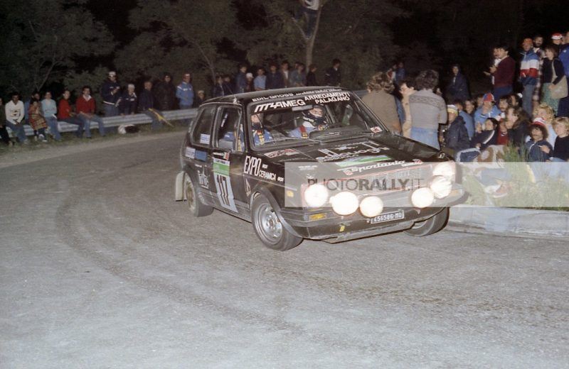 ORLANDI PILOTA RALLY COLLINE DI ROMAGNA 1981 - VW GOLF TI - CODRIVER BARDOTTI PER INFORMAZIONI SCIRVERE A INFO@PHOTORALLY.IT
