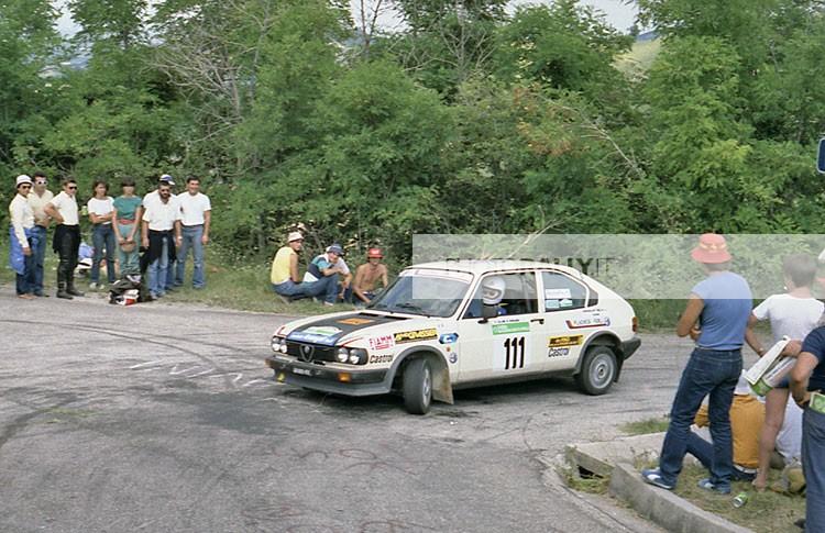 PLACHESI PILOTA RALLY COLLINE DI ROMAGNA 1981 - ALFASUD TI - CODRIVER PICCHI PER INFORMAZIONI SCIRVERE A INFO@PHOTORALLY.IT