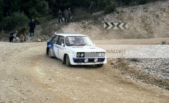 Ceccon pilota rally Umbro 1979 - Fiat 131 Abarth - Tutte le foto inedite del rally Umbro 1979 - foto esclusive - info@photorally.it