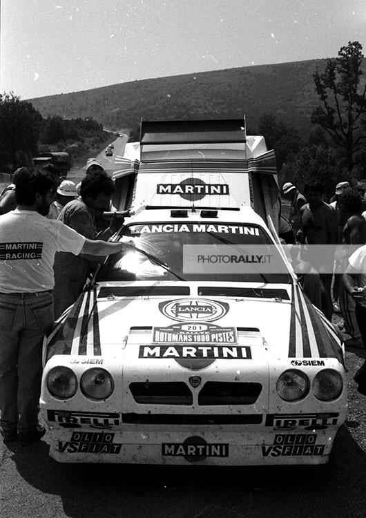Rally 1000 Pistes foto inedite della Lancia Delta S4 targata TO PROVA 2664 - FOTO ESCLUSIVE del debutto al rally francese info@photorally.it