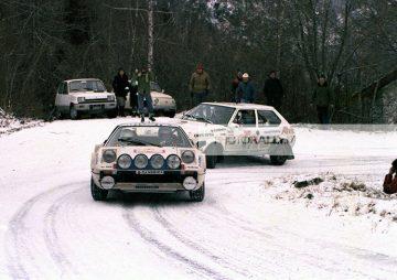 NICK BUSSENI PILOTA RALLY VALLE D'AOSTA 1980 - FERRARI 308 GTB - FOTO INEDITE ED IN ESCLUSIVA - INFO@PHOTORALLY.IT