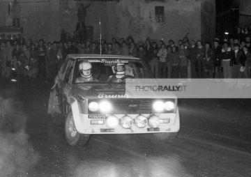 LEONETTI PILOTA RALLY - RALLY 100.000 TRABUCCHI - FIAT 131 ABARTH FOTO INEDITE INFO@PHOTORALLY.IT - SEGUICI